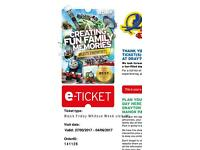 8 Adult Drayton Manor Tickets this school term holiday