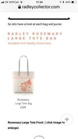 Radley Rosemary Leather Large Tote Bag and Purse Limited Edition