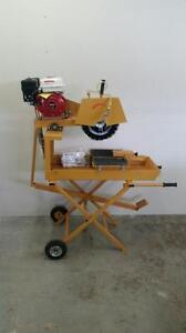 HOC CQ350 - GAS POWERED TILE CONCRETE SAW HONDA GX160 + FREE BLADE + 1 YEAR WARRANTY + FREE SHIPPING CANADA WIDE
