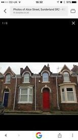 3 bed house to let Sunderland city centre