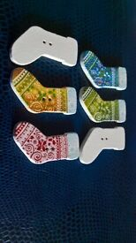 Christmas Stockings + Other Button designs from buttonsbooth,Tree Decorations/Hobby/Sewing Etc