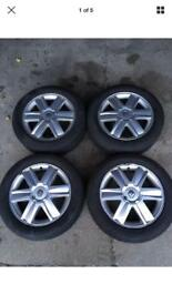 RENAULT MEGANE/SCENIC II 205/55 16 ALLOY WHEEL AND TYRE SET 16 INCH