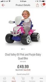Girls quad bike