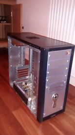 Fully functional ATX computer case (black). Used but well preserved.