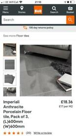 B and Q anthracite tiles 600 x 600 BRAND NEW