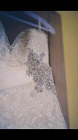 Mori Lee 1903 Wedding Dress & veil