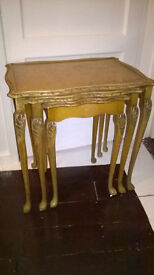 Vintage Nest of Tables French Chateaux King Louis Style