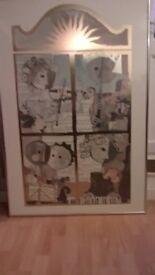 Large Framed Print - Faded print-excellent frame for reuse.