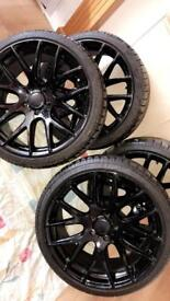 19Inch Golf Blackd Out Rims, Wheels, Tyres