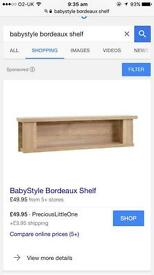 babystyle borduex shelf