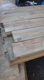 22x150x1800 brand new treated fence slats