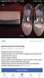 Matching shoes & clutch