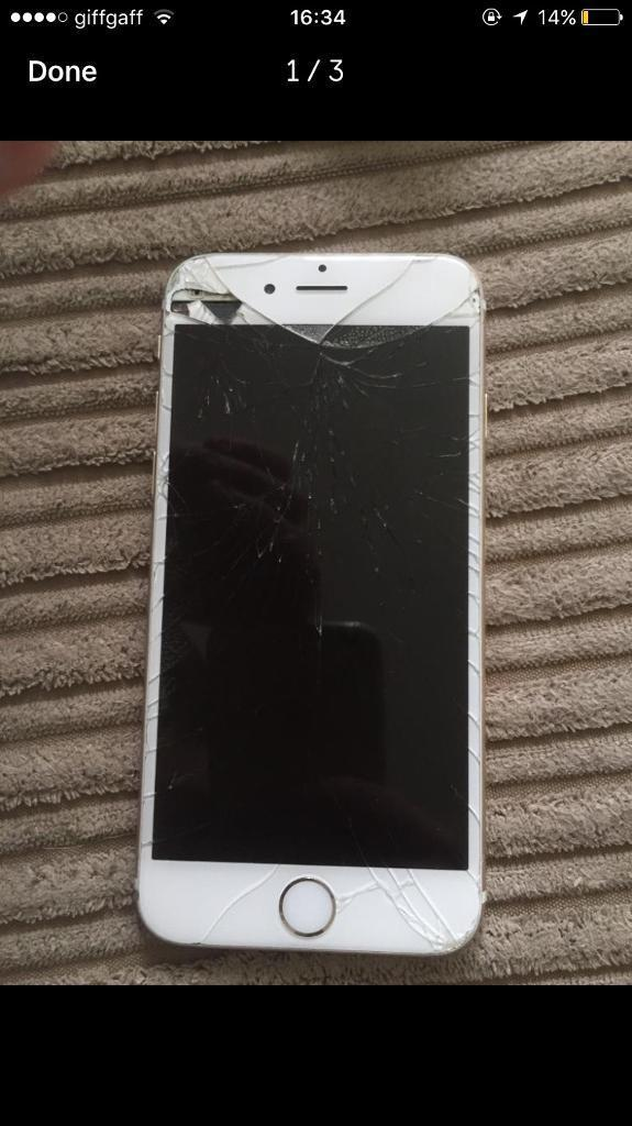 IPhone 6 - Unlocked to any network - CRACKED SCREEN