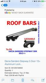 Roof bars to fit a Sandero Stepway