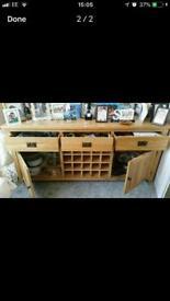 Drinks and crockery storage cabinet