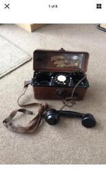Baker light vintage gpo field phone