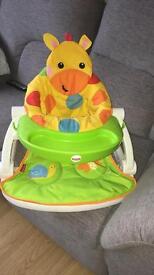 Baby giraffe sit me up seat