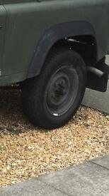 Landrover defender steel wheels and tyres