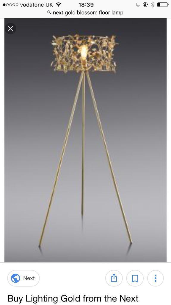 Next gold blossom floor lamp in baillieston glasgow gumtree next gold blossom floor lamp mozeypictures Gallery