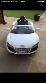 Audi R8 spyder electric kids car