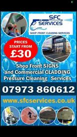 Shop Front Sign Cleaning Service