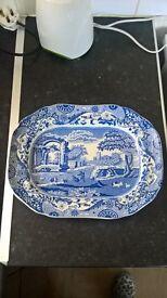 Spode blue italian rectangular platter C 1866 N