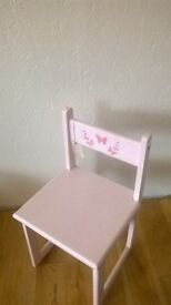 child's painted wooden chair
