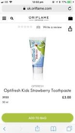 Toothbrush and toothpaste and lipstick