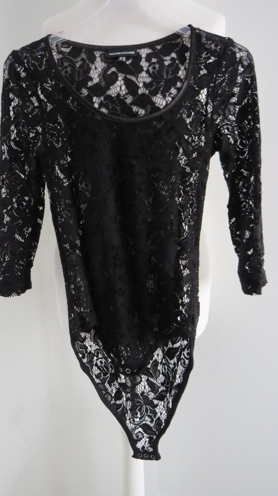 Warehouse top size 8in Greenwich, LondonGumtree - Warehouse bodice size 8, net material, fastening at bottom, has been worn. Able to post for £3.95