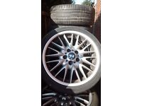 BMW GENUINE MV1 REAR 8.5J X 18 ALLOY, BALD TYRE,ALLOY IS IN VERY GOOD CONDITION