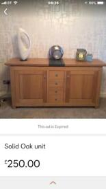 Solid oak unit
