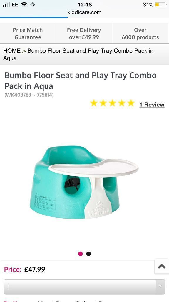 Bumbo seat with tray and straps