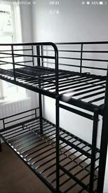 Black Metal Bunk Beds - SOLD