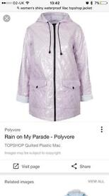 Topshop Quilter lilac jacket