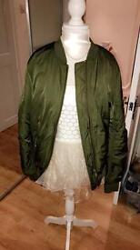 Khaki topshop bomber jacket