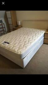 King size bed with mattress and headboard