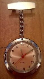 1 timex nurse fob watch ( timex wind up not battery )