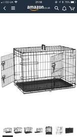 Medium Size Double Door Dog Crate
