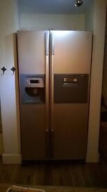 Large Modern Fridge Freezer with Ice and Water dispenser. Double doors.