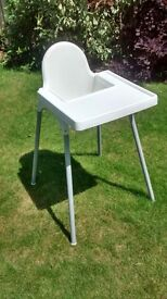 Ikea High Chair Antelop with Tray