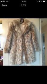 Miss selfridge fur coat