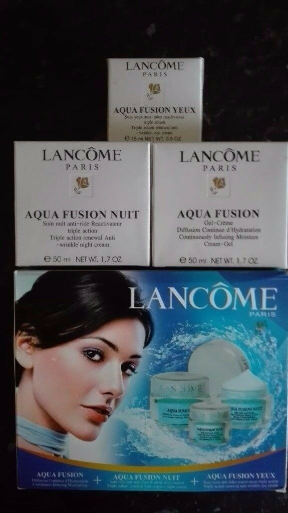 * NEW* Lancome Paris Aqua Fusion set of 3 Creams ( 15ml+50ml+50ml )