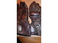 Leather Motorbike Gloves.