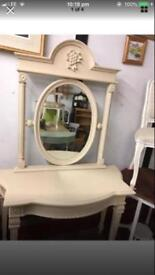 Cream painted dressing or hall table