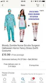 Zombie and nurse halloween outfit