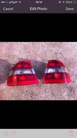 BMW e46 bodyparts rear lights front lights saloon titansilber metallic 318 316 n42 engine breaking