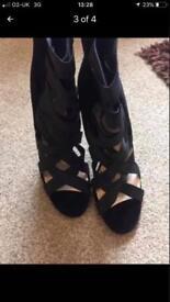 2 x heel boots