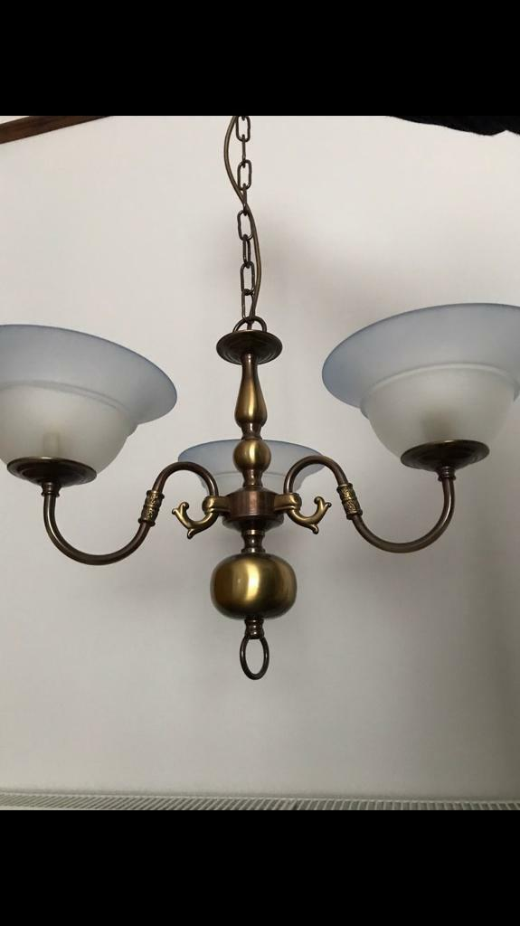 Brass light fitting