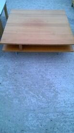 pine low coffee table