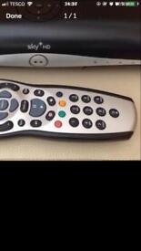 Sky box with remote and power lead
